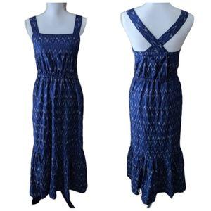 J. Crew Blue Print Dress